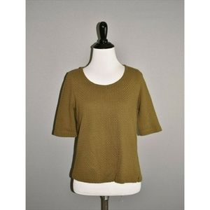 POSTMARK ANTHROPOLOGIE Textured Cropped Top